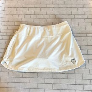 K-Swiss White Athletic Skirt